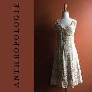 ANTHROPOLOGIE Odille Cherry Blossom Silk Dress 2